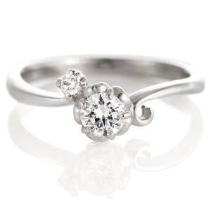 婚約指輪 ダイヤモンド プラチナ リング 0.3ct 天然石 エンゲージリング 鑑別書 セール|suehiro