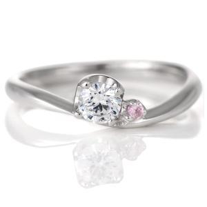 婚約指輪 ピンクダイヤモンド プラチナ リング 0.3ct 天然石 エンゲージリング 鑑定書 夏|suehiro