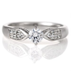 婚約指輪 ダイヤモンド プラチナ リング 0.3ct 天然石 エンゲージリング 鑑定書|suehiro
