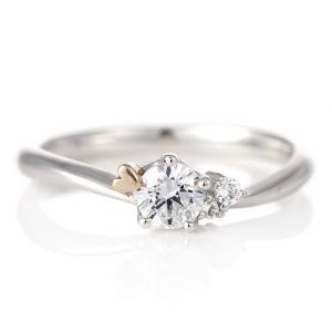 婚約指輪 ダイヤモンド プラチナ リング 0.3ct 天然石 エンゲージリング 鑑定書 ハート|suehiro