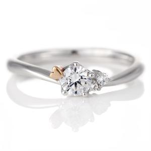 婚約指輪 ダイヤモンド プラチナ リング 0.3ct 天然石 エンゲージリング 鑑別書 ハート セール|suehiro