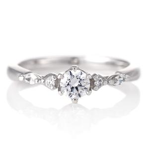 婚約指輪 ダイヤモンド プラチナ リング 0.3ct 天然石 エンゲージリング 鑑定書 夏|suehiro
