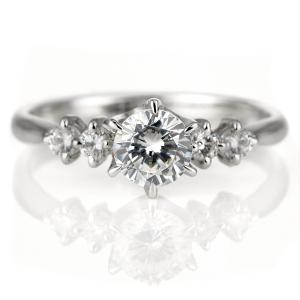 婚約指輪 ダイヤモンド プラチナ リング 天然石 エンゲージリング 鑑別書 セール 母の日 春|suehiro
