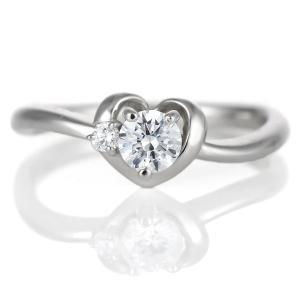 ダイヤモンド リング プラチナ 婚約指輪 0.3カラット 鑑別書 ハート セール|suehiro