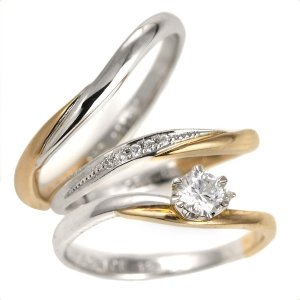 婚約指輪 結婚指輪 セットリング ダイヤモンド プラチナ エンゲージリング マリッジリング ペアリング 鑑定書 夏|suehiro