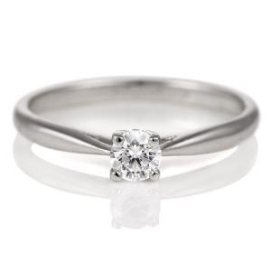婚約指輪 ダイヤモンド ダイヤ プラチナ リング 0.3ct エンゲージリング 鑑定書 夏|suehiro