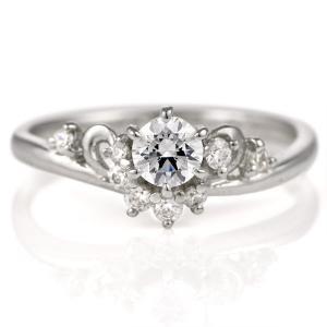 婚約指輪 ダイヤモンド ダイヤ プラチナ リング 0.3ct エンゲージリング 鑑定書|suehiro
