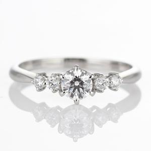 婚約指輪 鑑定書 ダイヤモンド プラチナ リング エンゲージリング 一粒 大粒|suehiro|04