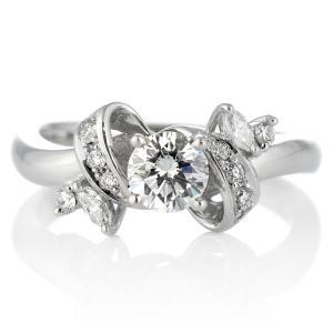 鑑定書付き 婚約指輪 エンゲージリング ダイヤモンド ダイヤ リング 指輪 人気 ダイヤ プラチナ リング|suehiro