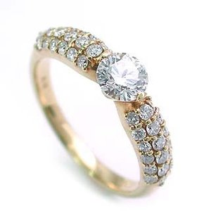 婚約指輪 エンゲージリング ダイヤモンド ダイヤ リング 指輪 人気 ダイヤ ゴールド リング 18金|suehiro