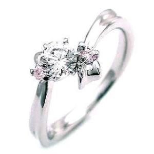 婚約指輪 エンゲージリング プラチナ ピンクダイヤモンド ダイヤ リング 夏|suehiro