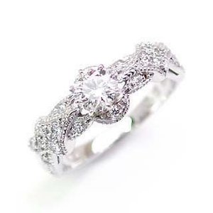 エンゲージリング 婚約指輪 ダイヤモンド ダイヤ リング プラチナ アンティーク|suehiro