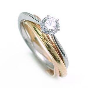 エンゲージリング 婚約指輪 ダイヤモンド ダイヤ リング プラチナ ゴールド コンビ|suehiro
