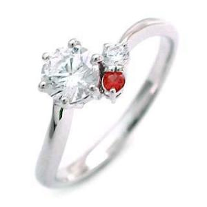 婚約指輪 エンゲージリング ダイヤモンド ダイヤ リング 指輪 人気 ダイヤ プラチナ リング ガーネット|suehiro