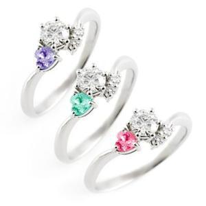 CanCam 掲載婚約指輪 ダイヤモンド プラチナ誕生石バースディ エンゲージリング0810ab 夏|suehiro