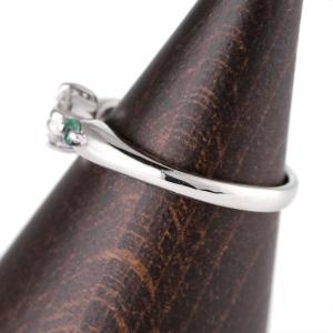 婚約指輪 エンゲージリング ダイヤモンド ダイヤ リング 指輪 人気 ダイヤ プラチナ リング エメラルド|suehiro|03