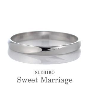 結婚指輪 マリッジリング ペアリング プラチナ 人気 ストレート ペア プレゼント 地金リング 宝石なし  刻印無料 スイートマリッジ|suehiro