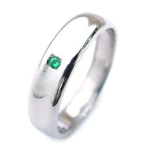 結婚指輪 マリッジリング ペアリング5月誕生石 エメラルド【今だけ代引手数料無料】