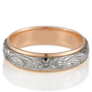 ハワイアンジュエリー 結婚指輪 マリッジリング ホワイトゴールド ピンクゴールド メンズ ペアリング 結婚式 カップル プレゼント ブランド セール|suehiro