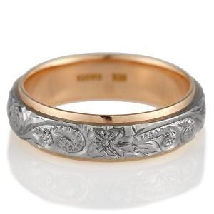 ハワイアンジュエリー 結婚指輪 マリッジリング ホワイトゴールド ピンクゴールド レディス ペアリング 結婚式 カップル プレゼント ブランド セール|suehiro