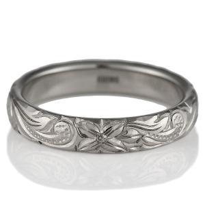 ハワイアンジュエリー 結婚指輪 マリッジリング K18ホワイトゴールド メンズ ペアリング 結婚式 カップル プレゼント ブランド セール|suehiro