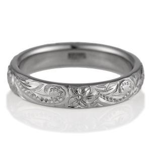 ハワイアンジュエリー 結婚指輪 マリッジリング K18ホワイトゴールド レディス ペアリング 結婚式 カップル プレゼント ブランド セール|suehiro