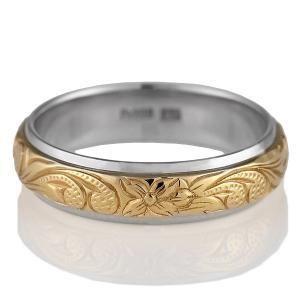 ハワイアンジュエリー 結婚指輪 マリッジリング プラチナ900 ピンクゴールド メンズ ペアリング 結婚式 カップル プレゼント ブランド セール|suehiro