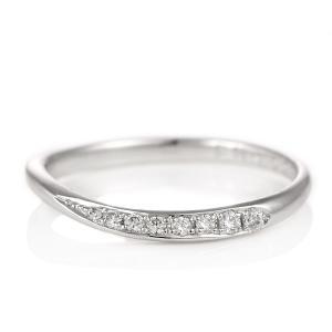結婚指輪 プラチナ マリッジリング ダイヤモンド レディース|suehiro