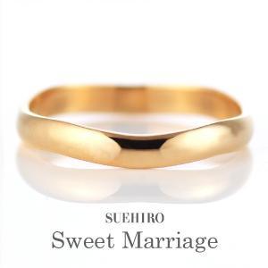 結婚指輪 マリッジリング ペアリング ピンクゴールド 名入れ 文字入れ 刻印 スイートマリッジ|suehiro