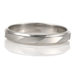 つや消し 結婚指輪 マリッジリング ペアリング プラチナ カルダモン  文字入れ 刻印 serieux|suehiro