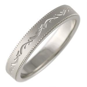 ミル打ち プラチナ 結婚指輪 マリッジリング ペアリング 文字入れ 刻印 アンティーク調 Romantic Blue|suehiro