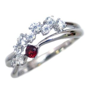 指輪レディース ダイヤモンド指輪 ガーネット リング 指輪 (ガーネット) 1月 誕生石 ダイヤモンド リング ファッションリング【今だけ代引手数料無料】|suehiro