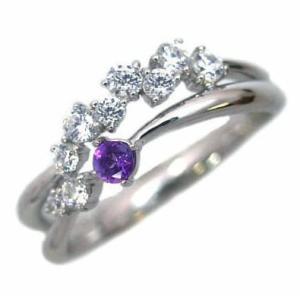 指輪レディース ダイヤモンド指輪 アメジスト リング 指輪 誕生石 ダイヤモンド リング ファッションリング【今だけ代引手数料無料】|suehiro