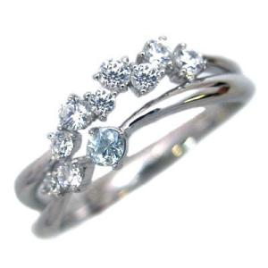 指輪レディース ダイヤモンド指輪 アクアマリン リング 指輪 ダイヤモンド リング ファッションリング【今だけ代引手数料無料】|suehiro