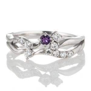 指輪レディース ダイヤモンド指輪 アメジスト リング 指輪 誕生石 ダイヤモンド リング ファッションリング【今だけ代引手数料無料】 suehiro
