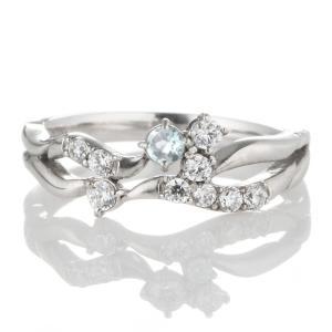 指輪レディース ダイヤモンド指輪 アクアマリン リング 指輪 ダイヤモンド リング ファッションリング【今だけ代引手数料無料】 suehiro