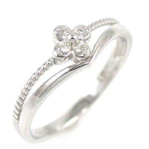 ダイヤモンド指輪 ピンキーリング ピンキー リング ホワイト...