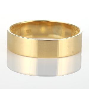 ペアリング 指輪 ゴールド イエローゴールド 平うち 太め 人気 ファッション デザイン【今だけ代引手数料無料】 suehiro