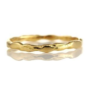 指輪レディース 指輪 リング 18金 ひねり ウエーブ シンプル 彫金風 レディース【今だけ代引手数料無料】|suehiro