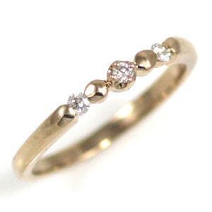ダイヤモンド指輪 ピンキーリング ピンキー リング ピンクゴ...