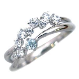 ダイヤモンド指輪 エタニティリング スイート エタニティ ダイヤモンド 3月誕生石プラチナ アクアマリン ダイヤモンドリング 結婚 10周年記念 セール suehiro