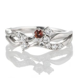 ダイヤモンド指輪 エタニティリング スイート エタニティ ダイヤモンド 1月誕生石プラチナ ガーネット ダイヤモンドリング 結婚 10周年記念 セール suehiro