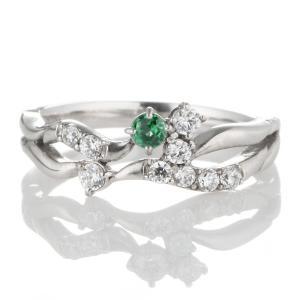 エメラルド 指輪 エタニティリング スイート エタニティ ダイヤモンド 5月誕生石プラチナ エメラルド ダイヤモンドリング 結婚 10周年記念 セール suehiro