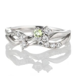 ダイヤモンド指輪 エタニティリング スイート エタニティ ダイヤモンド 8月誕生石プラチナ ペリドット ダイヤモンドリング 結婚 10周年記念 セール|suehiro
