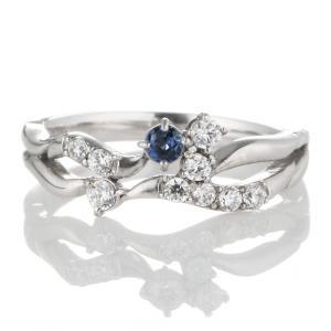サファイア 指輪 ダイヤモンド指輪 エタニティリング スイート エタニティ ダイヤモンド 9月誕生石プラチナ サファイア ダイヤモンドリング 結婚 10周年記念|suehiro