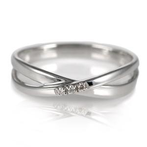 ダイヤモンド指輪 ダイヤモンド リング シンプルプラチナダイヤモンドリング 指輪 プラチナ900 クロス レディース 人気 プレゼント アクセ セール|suehiro