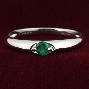 ペアリング 結婚指輪 マリッジリング プラチナ リング エメラルド 5月 誕生石...