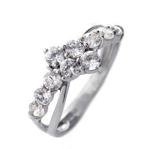 ダイヤモンド指輪 エタニティリング ダイヤモンド ホワイトゴールド リング 指輪 18金 1.0 カラット 結婚 婚約 10年目 セール|suehiro