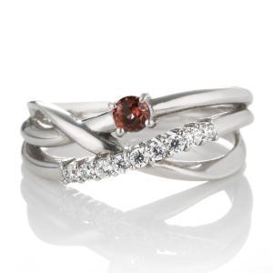 婚約指輪 エンゲージリング ダイヤモンド ダイヤ リング 指輪 人気 ダイヤ プラチナ リング ガーネット 夏|suehiro