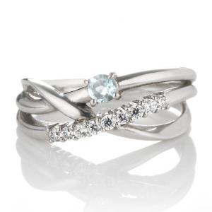 婚約指輪 エンゲージリング ダイヤモンド ダイヤ リング 指輪 人気 ダイヤ プラチナ リング アクアマリン 夏|suehiro